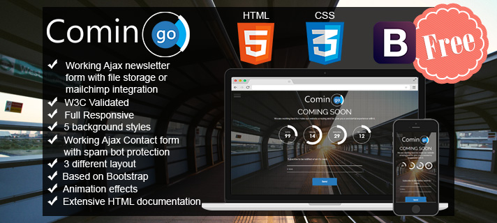 Photo of Comingo Free, coming soon template HTML5